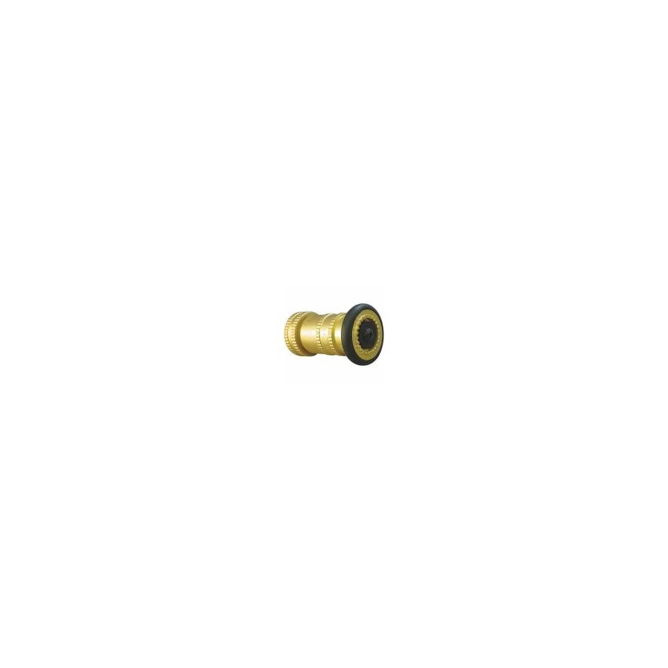 1511 Fire Hose Nozzle,Fog,Brass,1 1/2 In NPSH Patio, Lawn & Garden
