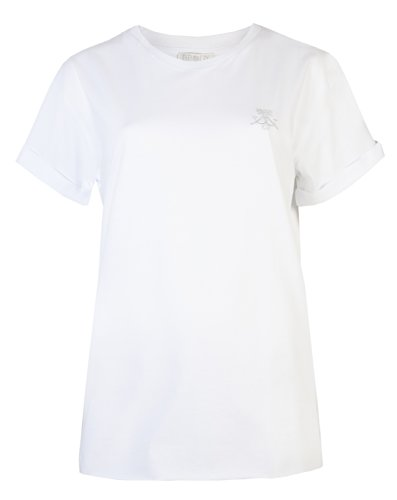 Coole-Fun-T-Shirts-Maglietta da donna per top da donna, a forma di braccio di fidanzato Slouch Brody Co & vestibilità accostata Up-Maglietta a maniche corte da donna, stile Casual, da danza