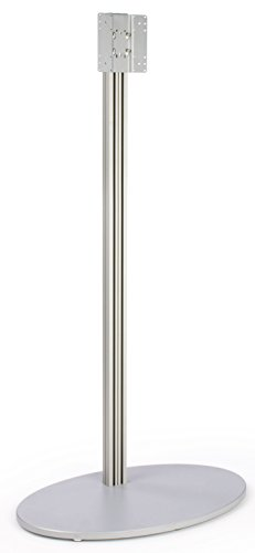 Monitor Floor Stand For A 32 To 60 Inch Television, Oval Mdf Base - Silver