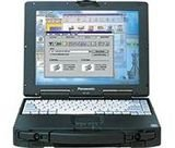 Refurbished fully ruggardised panasonic toughbook cf 27 laptop with windows 98se 256mb ram 40gb hard drive dvd drive 121 tft screen comes with 2 year warranty