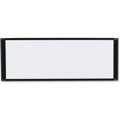 Mastervision Cubicle Workstation, 36X18, Black Aluminum Fram