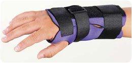 Rolyan Breathoprene Pediatric Wrist Splint - Splint, Right, Color: Purple/Black, Size: Small