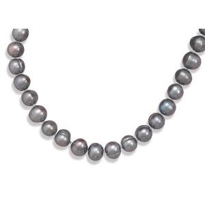 Peacock Pearl 10.5mm Necklace Knotted Adjustable Length Sterling Silver