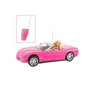 barbie light pink corvette convertible car doll set. Black Bedroom Furniture Sets. Home Design Ideas