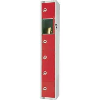 Six Door Locker with Sloping Top