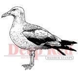 Deep Red Stamps Seagull Rubber Stamp