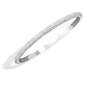 Crystal Domed Bangle Fashion Bracelet