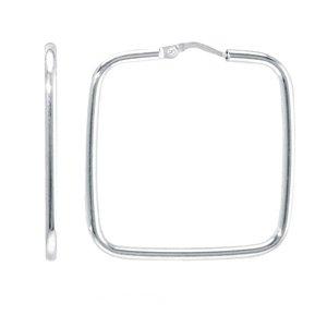 Sterling Silver Hoop Earrings (1-1/2