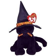 TY Halloweenie Beanie Baby - MERLIN the Cat