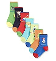7 Pairs of Days of the Week Socks