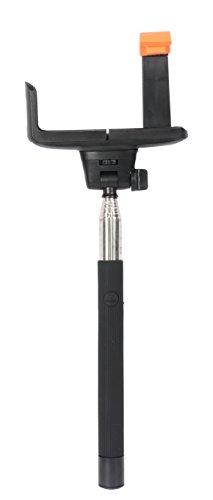 Photron Selfie Stick Extendable Wireless Monopod with inbuilt BlueTooth Remote Shutter, With adjustable Phone Holder, SLF300BT Black