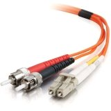 C2G / Cables to Go 36368 LC/ST LSZH Duplex 50/125 Multimode Fiber Patch Cable (20 Meters, Orange)