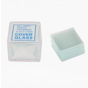 Gadgetworkz 100Pcs Square Microscope Slides Cover Slips 20Mmx20Mm