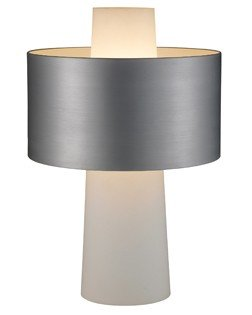 Table Lamp - Symmetry Glass Cylinder with Steel Shade