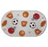 Sports Printed Bubble Bathtub Mat - 16 inches X 28 inches Baseball, Basketball, Soccer, Football