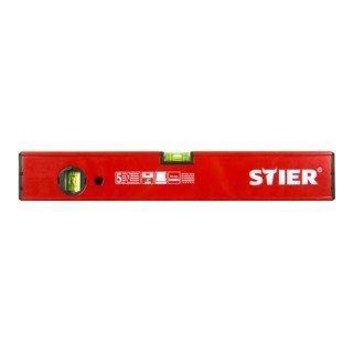 STIER-Wasserwaage-aus-Leichtmetall-mit-Magnet-I-Messgenauigkeit-05mmm-Lnge-60-cm-I-5-Jahre-Langlebigkeitsgarantie
