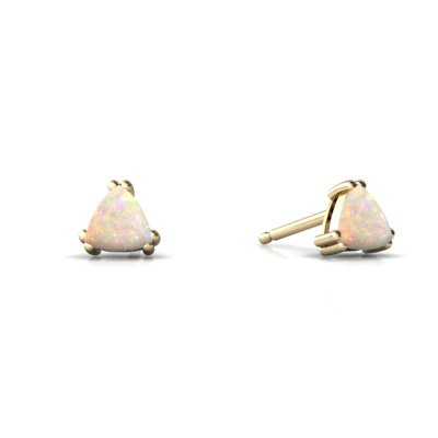 Jewels For Me 14K Yellow Gold Trillion Genuine Opal Stud Earrings