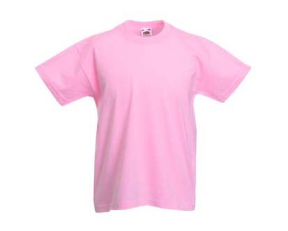 Kinder T-Shirt Valueweight; Rosa,140 140,Rosa
