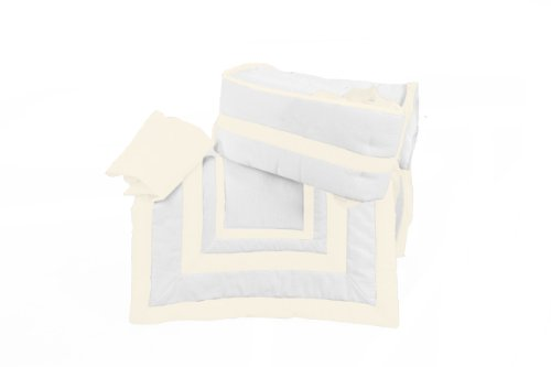 Baby Doll Modern Hotel Style Cradle Bedding set, Ivory