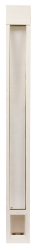 PetSafe Deluxe Pet Panel Panels for Sliding Glass Doors 76-3/4 to 81 Tall, Small, White (Sliding Glass Pet Door Insert compare prices)