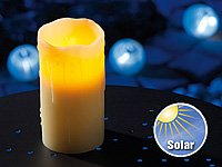 Batteriefreie Solar LED-Echtwachs-Kerze mit Solarzelle