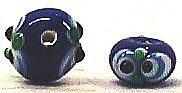 トンボ玉パーツ(楕円型)