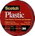 3m Company 1-1/2x125 Red Plas Tape 191red Colored Plastic Tape