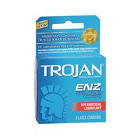 Trojan-ENZ Premium Latex Condoms Spermicidal Lubricant 3 ea