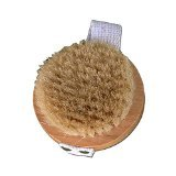 Soap Farm Round Boars Hair Bath & Body Brush with Strap