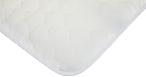 American Baby Company 2767 Waterproof Quilted Lap and Burp Pad Covers Set, 2-Pack (White)