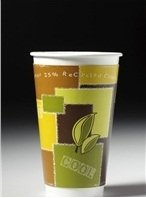 Chinet 63009 20 oz RC Cup ComfortCup Insulated Paper Hot Cup with Recycled Design (Case of 420) kitcox70427htmvapor value kit chinet classic paper dinnerware htmvapor and glad forceflex tall kitchen drawstring bags cox70427