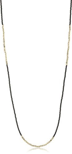 Chibi Jewels Black Glass Bead and Golden Section Necklace