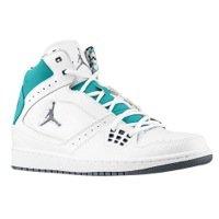 bde6b8f58a8abd Men s Nike Jordan 1 Flight Basketball Shoes White Cool Grey-New Emerald  372704-109 (11)