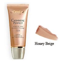 Loreal Cashmere Perfect Soft Powder Creme Makeup, Honey Beige - 1 Oz / Pack, 2 Each