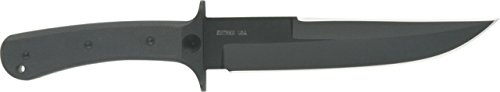 Entrek Force Recon MKII Fixed Blade Knife, 11.875in, Black Canvas Micarta Handle