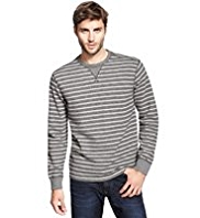 North Coast Cotton Rich Striped Sweat Top