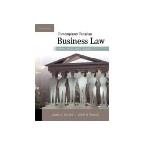 contemporary canadian business law principles and Business studies  canadian and international law   philosophical sources of law and issues in contemporary society  international law: principles,.