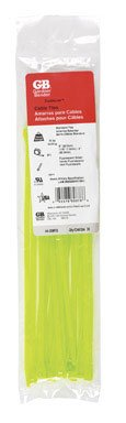 Gardner Bender 45-308Fg Fluorescent Cable Tie, 8-Inch, Green, 20-Pack