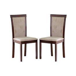 Baxton Studio Set of Two Judy Modern Dining Chair, Dark Brow