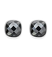 M&S Collection Finest Sterling Silver Hematite Stud Earrings