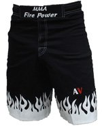 AV Firepower MMA Shorts, Black, Size: 36