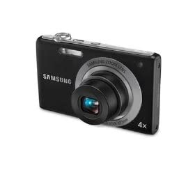 Samsung TL105 - Digital camera - compact - 12.2 Mpix - optical zoom: 4 x - supported memory: SD, SDHC - black