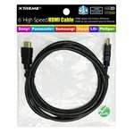 Xtreme 71140 10-Feet High Speed Hdmi With Ethernet Channel Poly Bag