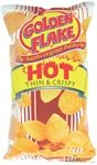 Golden Flake Hot Thin and Crispy Potato Chips 5 Ounce 4 Pack