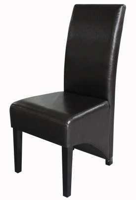 Conjunto de 2 sillas de piel sintética marrón colonial estilo envejecido comedor respaldo preciosos