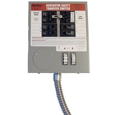 Generac 6376 30-Amp 6-10-Circuit Indoor Manual Transfer Switch for Maximum 7500-Watt Generators