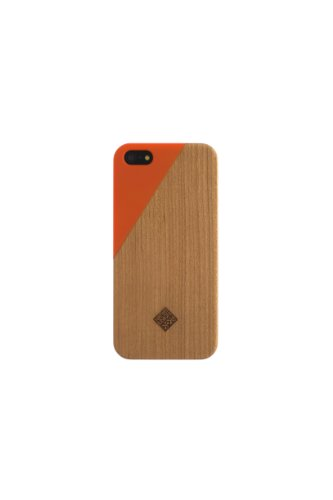 Special Sale Clic Wooden iPhone 5 / 5s Case - Orange Terracotta / Wood