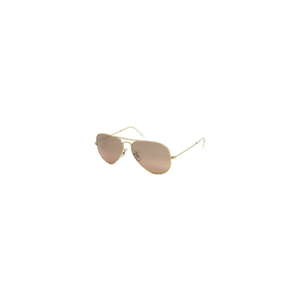 cfd0a994d2999 Ray Ban AVIATOR RB3025 001 3E Arista  Crystal Brown Pink Silver Mirror 58mm  Sunglasses