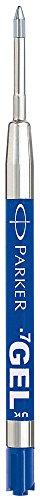Parker S0169240-B Recharge encre Gel Bleu Lot de 12