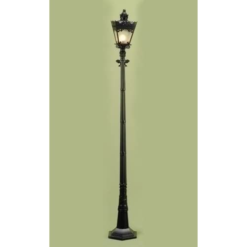 59 victorian lighted black lamp post christmas
